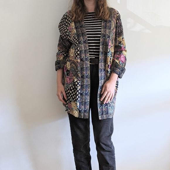 Vintage 1990's Floral Kimono Robe